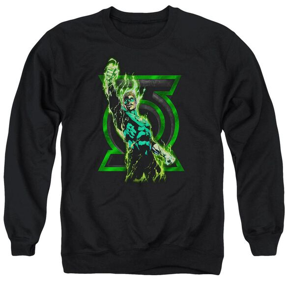Green Lantern Fully Charged Adult Crewneck Sweatshirt