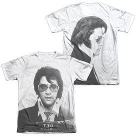 Elvis Mugshot (Front Back Print) Adult Poly Cotton Short Sleeve Tee T-Shirt