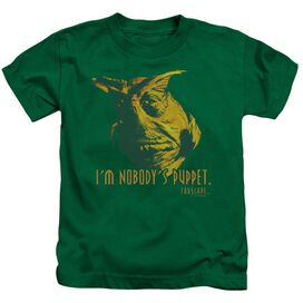 Farscape Nobodys Puppet Short Sleeve Juvenile Kelly Green T-Shirt