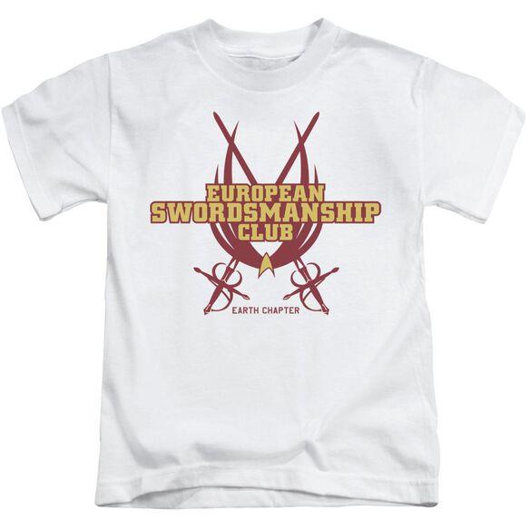 Star Trek Swordsmanship Club Short Sleeve Juvenile White T-Shirt