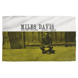 Miles Davis Miles And Milt Face Hand Towel