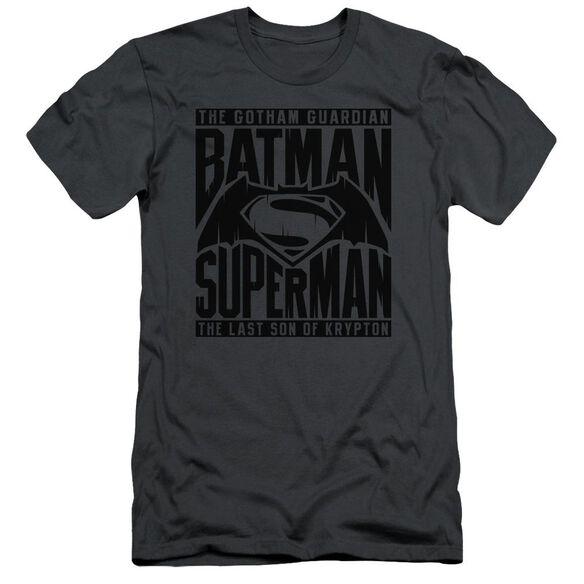 Batman V Superman Title Fight Short Sleeve Adult T-Shirt