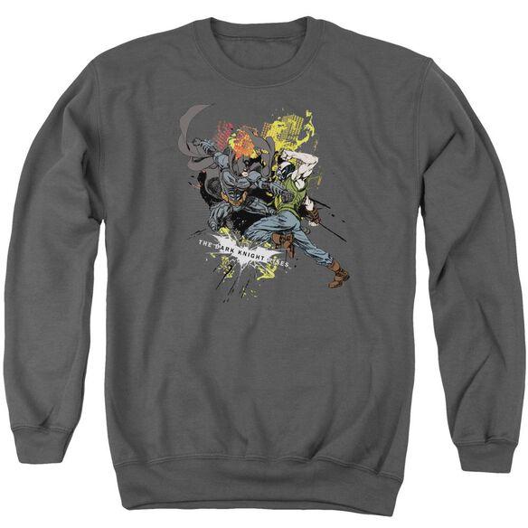 Dark Knight Rises Fight For Gotham Adult Crewneck Sweatshirt