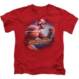 The Flash Fastest Man Short Sleeve Juvenile Red T-Shirt