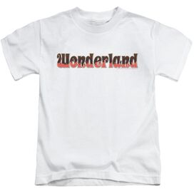 Zenoscope Wonderland Logo Short Sleeve Juvenile White T-Shirt