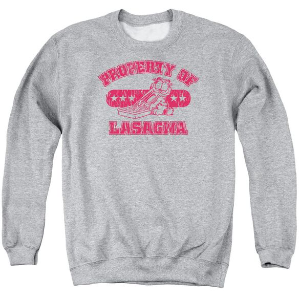 Garfield Property Of Lasagna Adult Crewneck Sweatshirt Athletic