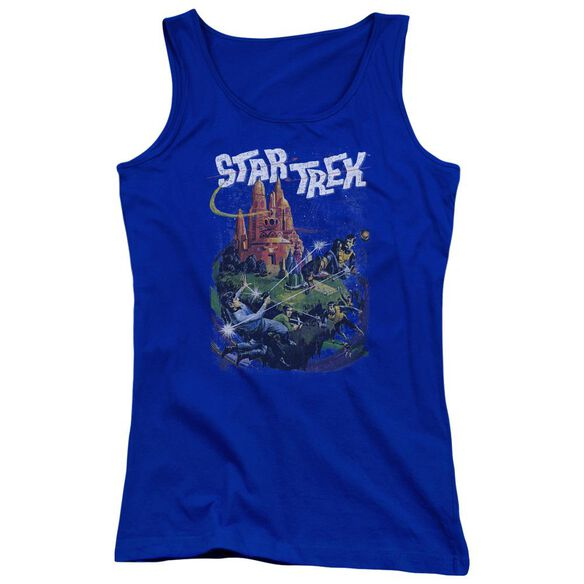 Star Trek Vulcan Battle - Juniors Tank Top - Royal Blue
