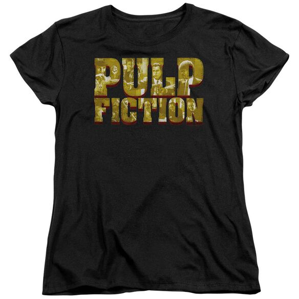 Pulp Fiction Pulp Logo Short Sleeve Womens Tee T-Shirt