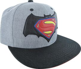 Batman v Superman Faux Leather Logo Heather Hat
