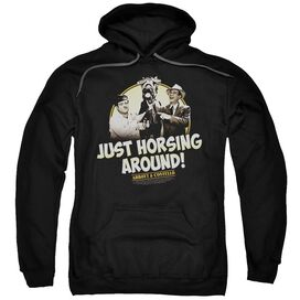 Abbott & Costello Horsing Around Adult Pull Over Hoodie