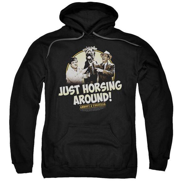 Abbott & Costello Horsing Around Adult Pull Over Hoodie