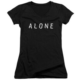 Alone Alone Logo Junior V Neck T-Shirt