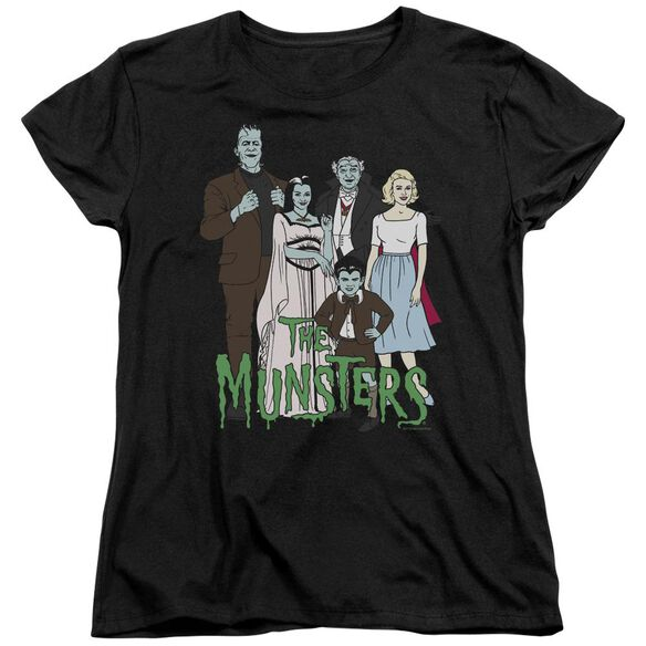 The Munsters The Family Short Sleeve Womens Tee T-Shirt