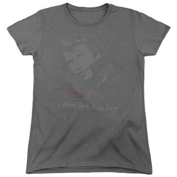 Happy Days Cool Fonz Short Sleeve Womens Tee T-Shirt