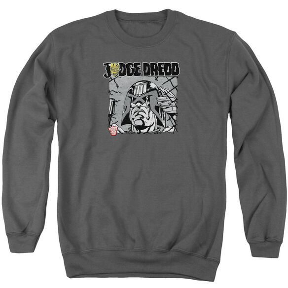 Judge Dredd Fenced Adult Crewneck Sweatshirt