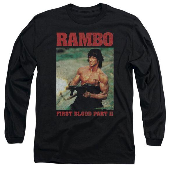 Rambo:First Blood Ii Dropping Shells Long Sleeve Adult T-Shirt