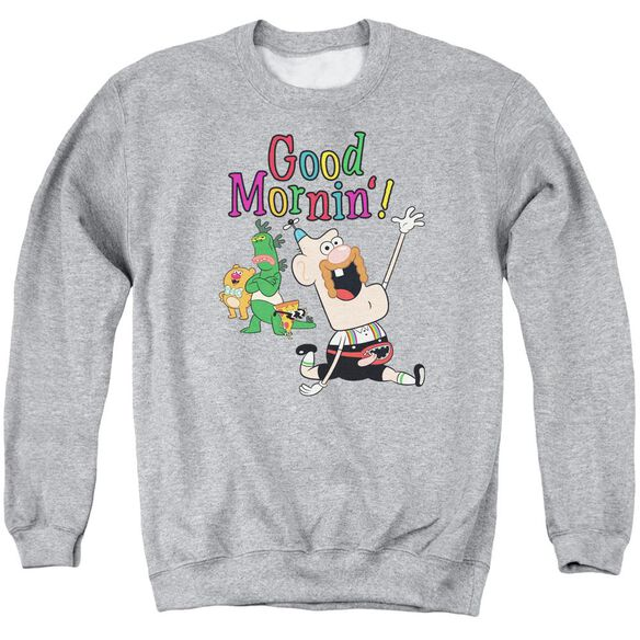 Uncle Grandpa Good Mornin Adult Crewneck Sweatshirt Athletic