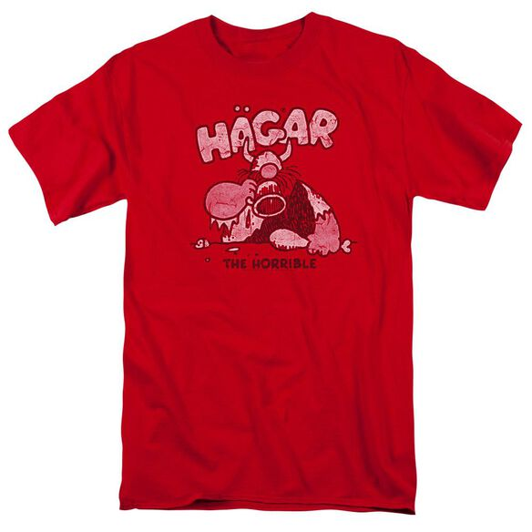 Hagar The Horrible Hagar Gulp Short Sleeve Adult Red T-Shirt