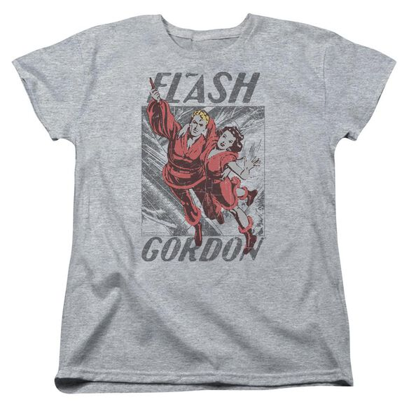 Flash Gordon To The Rescue Short Sleeve Womens Tee Athletic T-Shirt