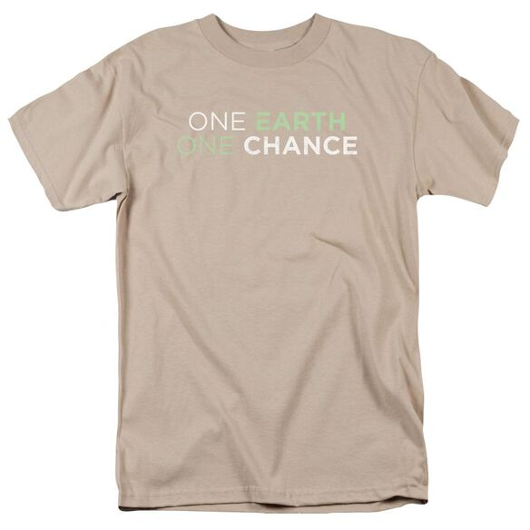 One Earth One Chance Short Sleeve Adult Sand T-Shirt