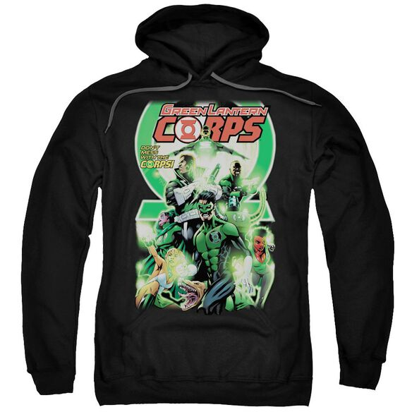 Green Lantern Gl Corps #25 Cover Adult Pull Over Hoodie