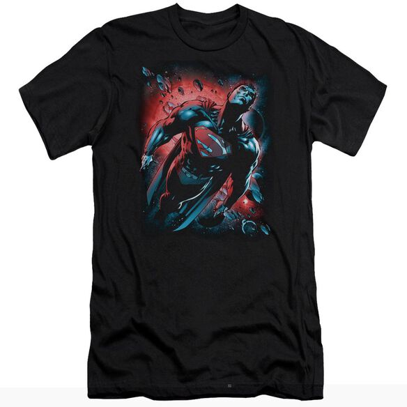 SUPERMAN RED SUN - S/S ADULT 30/1 - BLACK T-Shirt