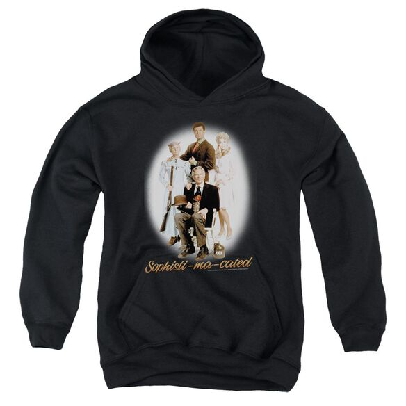 BEVERLY HILLBILLIE OPHISTIMACATED-YOUTH PULL-OVER HOODIE - BLACK T-Shirt