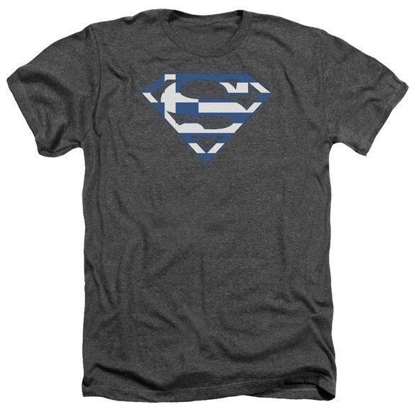 Superman Greek Shield - Adult Heather - Charcoal