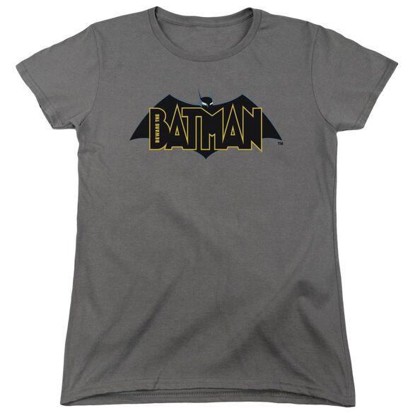 Beware The Batman Logo Short Sleeve Womens Tee T-Shirt