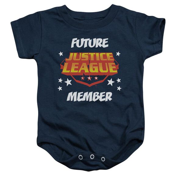 Jla Future Member Infant Snapsuit Navy
