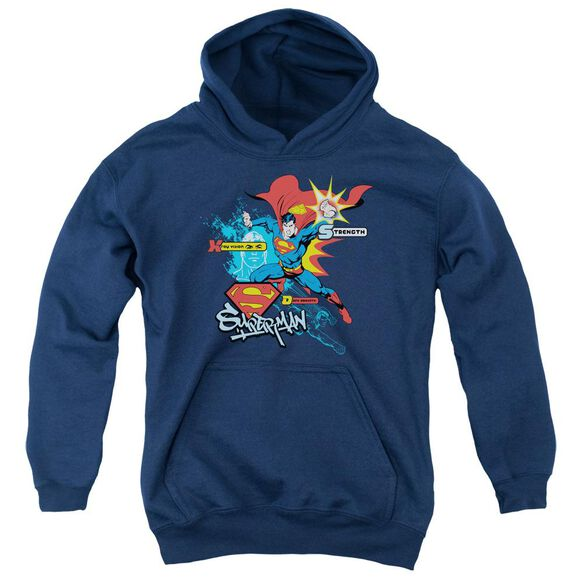 Superman Abilities Youth Pull Over Hoodie