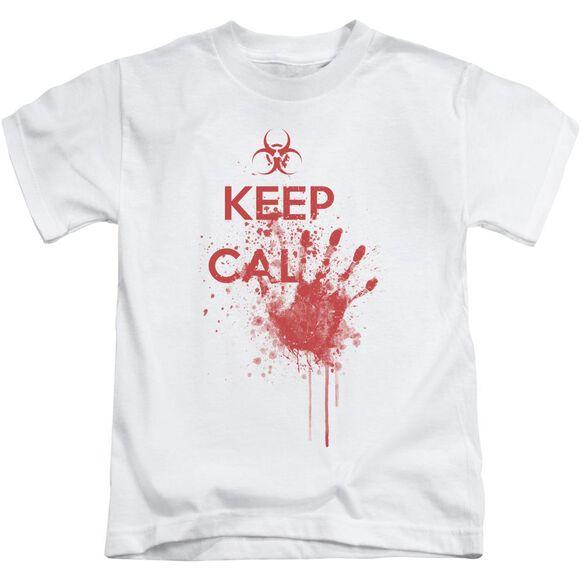 Keep Cal Short Sleeve Juvenile White T-Shirt