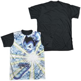 Astro Boy Beams Short Sleeve Adult Front Black Back T-Shirt