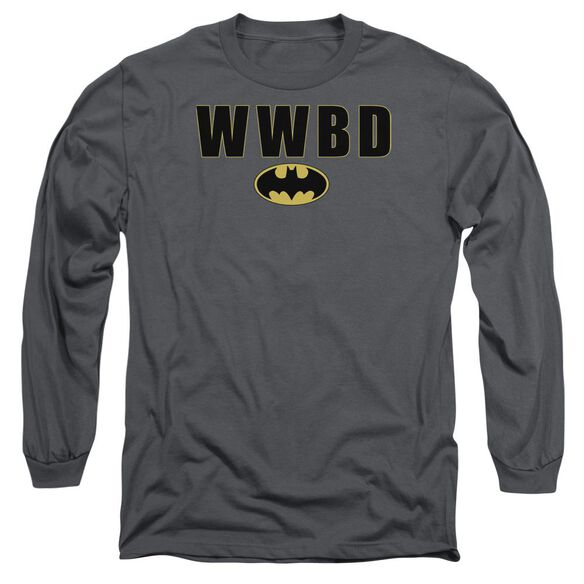 Batman Wwbd Logo Long Sleeve Adult T-Shirt