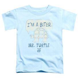 Tootsie Roll I'm A Biter Short Sleeve Toddler Tee Light Blue Sm T-Shirt