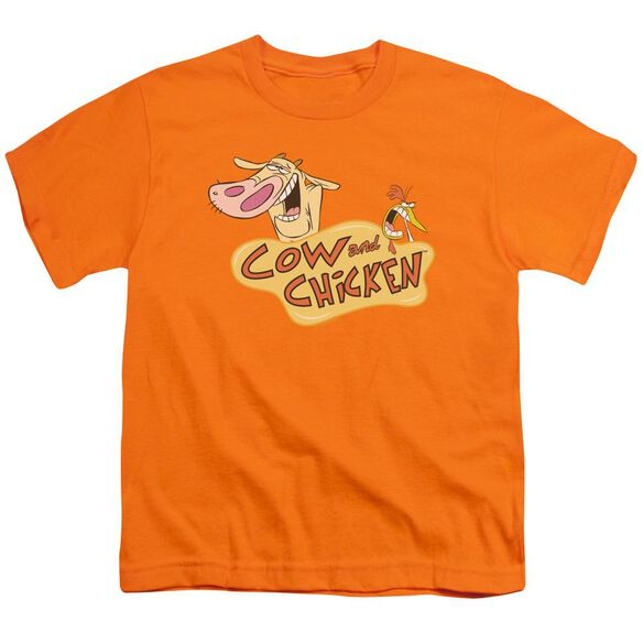 Cow & Chicken Logo Short Sleeve Youth T-Shirt