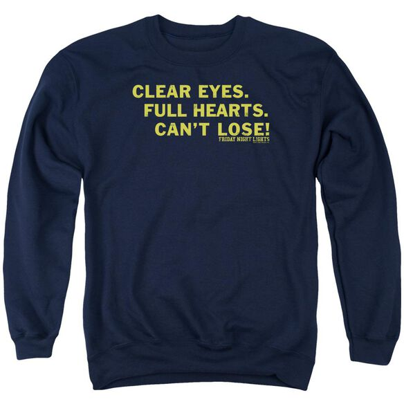 Friday Night Lights Clear Eyes Adult Crewneck Sweatshirt