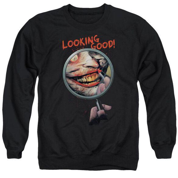 Batman Looking Good Adult Crewneck Sweatshirt