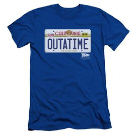 BACK TO THE FUTURE OUTATIME PLATE - S/S ADULT 30/1 - ROYAL BLUE - LG - ROYAL BLUE T-Shirt