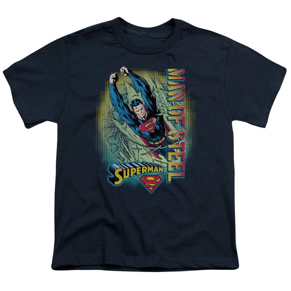 SUPERMAN BREAKTHROUGH - S/S YOUTH 18/1 - NAVY T-Shirt