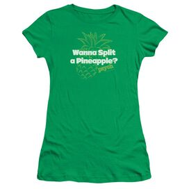 PSYCH PINEAPPLE SPLIT - S/S JUNIOR SHEER - KELLY GREEN T-Shirt