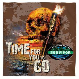 Survivor Time To Go Bandana White