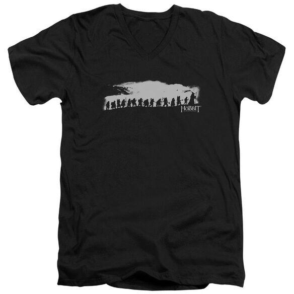The Hobbit The Company Short Sleeve Adult V Neck T-Shirt