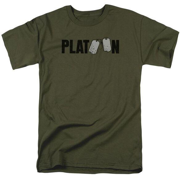 Platoon Logo Short Sleeve Adult Military Green T-Shirt