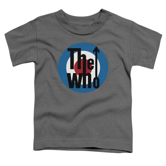 The Who Logo Short Sleeve Toddler Tee Charcoal T-Shirt