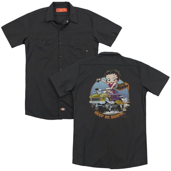 Betty Boop Keep On Boopin (Back Print) Adult Work Shirt