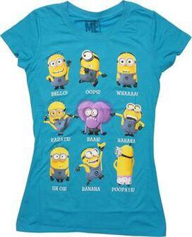 Despicable Me Minions Captions Juniors T-Shirt