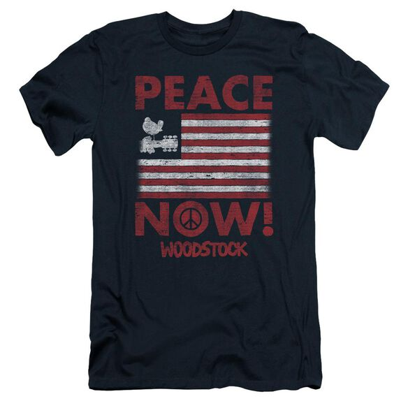 Woodstock Peace Now Short Sleeve Adult T-Shirt