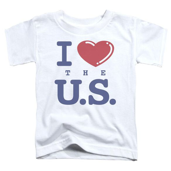 I Love The Us Short Sleeve Toddler Tee White T-Shirt