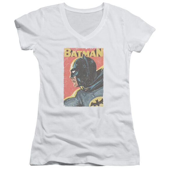 Batman Classic Tv Vintman Junior V Neck T-Shirt